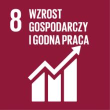 Cel 8: Promować stabilny, zrównoważony i inkluzywny wzrost gospodarczy, pełne i produktywne zatrudnienie oraz godną pracę dla wszystkich ludzi