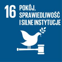 Cel 16: Promować pokojowe i inkluzywne społeczeństwa, zapewnić wszystkim ludziom dostęp do wymiaru sprawiedliwości oraz budować na wszystkich szczeblach skuteczne i odpowiedzialne instytucje, sprzyjające włączeniu społecznemu